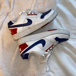 Airforce 1s Red White and Blue